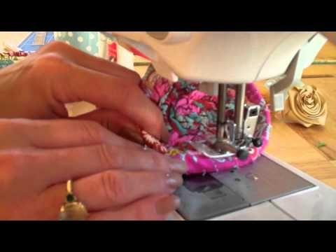 Piping bowl with Debbie Shore - YouTube  (using 2.5 mm piping cord)
