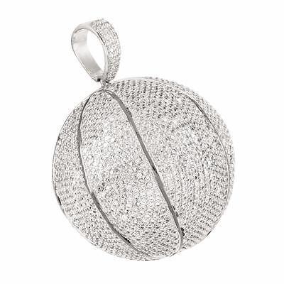 White Ice SS Diamond Leaf Pendant