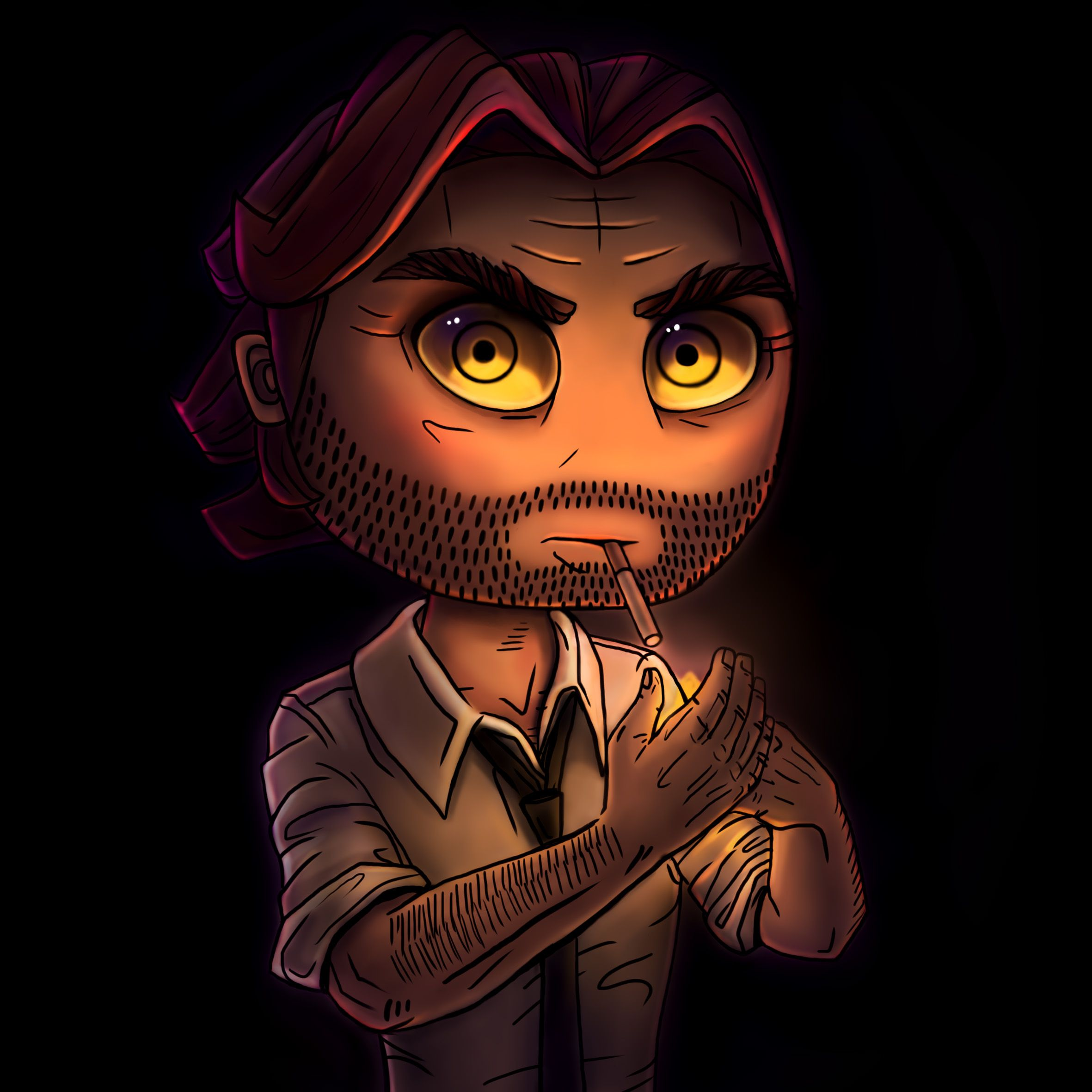 neon.zephyr Cute Bigby from The Wolf Among Us