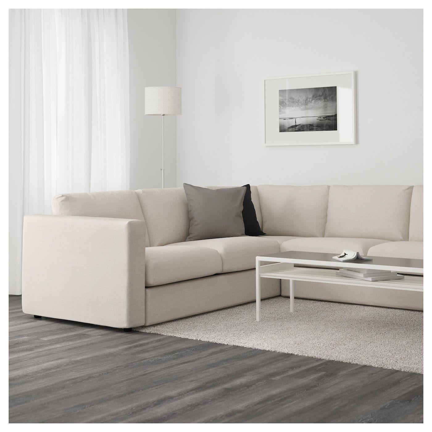 IKEA VIMLE Sectional, 5seat corner Gunnared beige