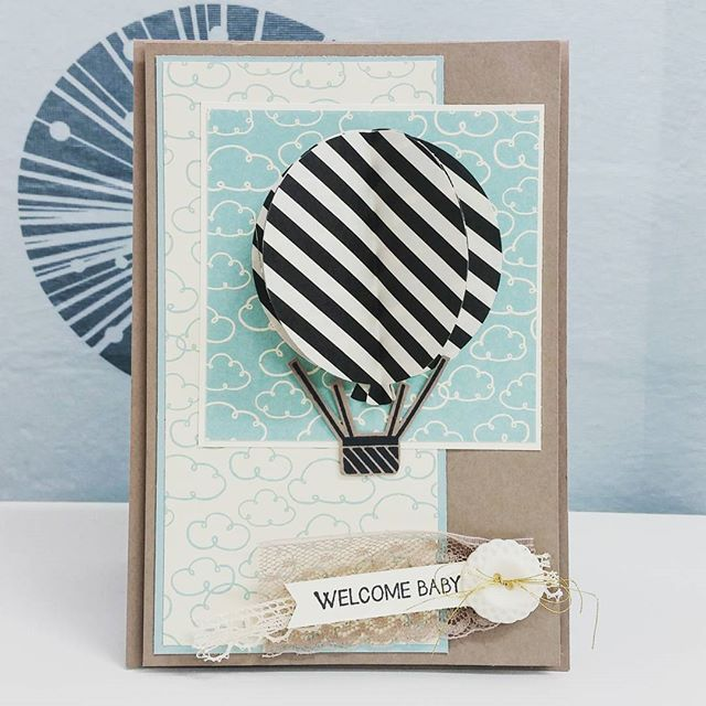 Shh's I made a baby card for a friend and I'm finally getting it in the post to her. Henry is about 6 weeks old, but his card is finally on its way!!! #chloscraftcloset #betterlatethennever #stampinupaustralia #stampinup #celebratetoday #babycard