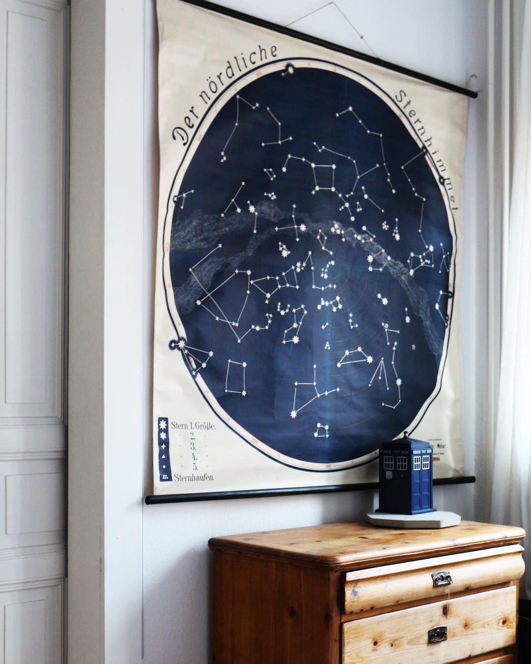 Schulwandkarte Sternenhimmel   Sternenhimmel, Sternen himmel ...