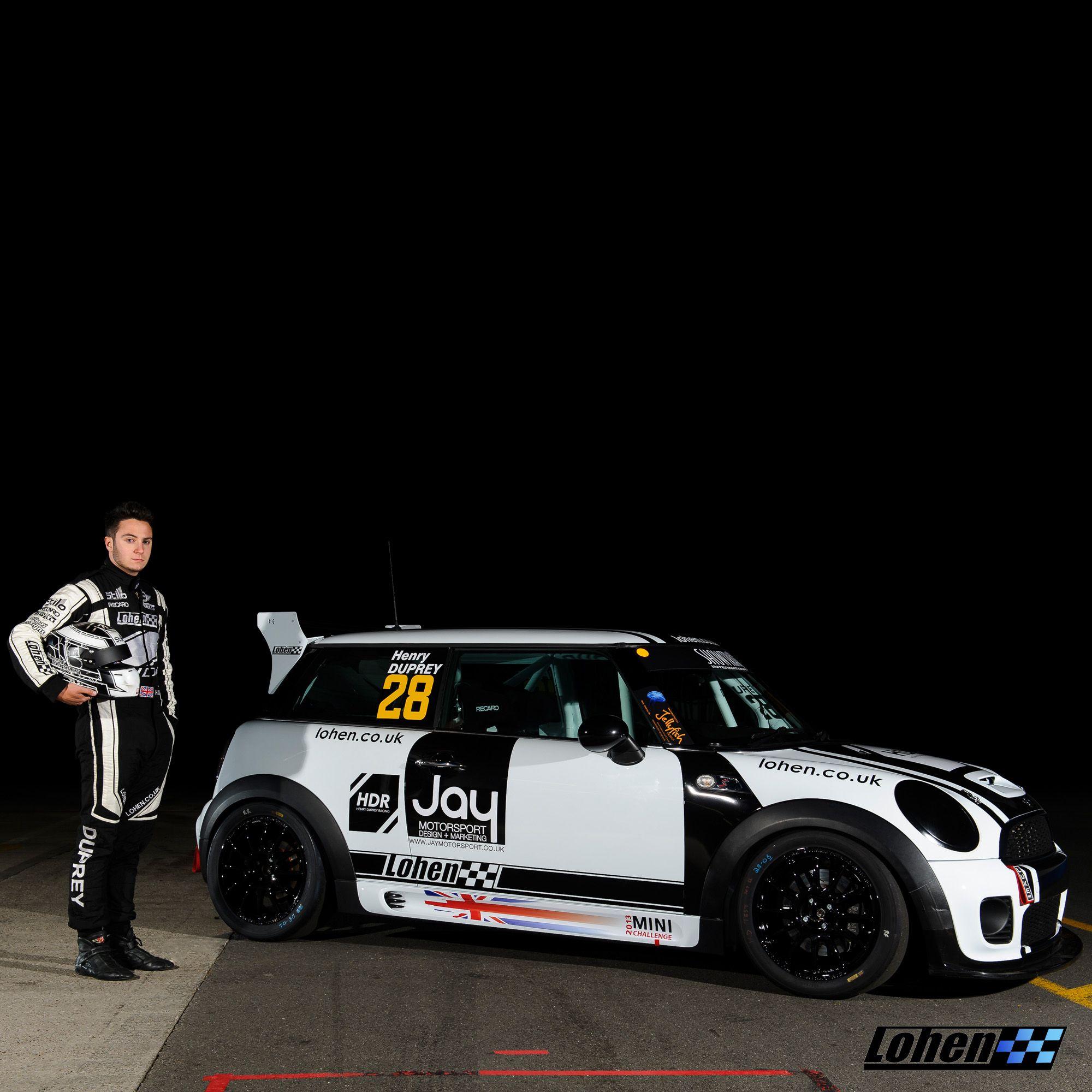 Henry Duprey Posing With His Lohen-built Mini Challenge UK
