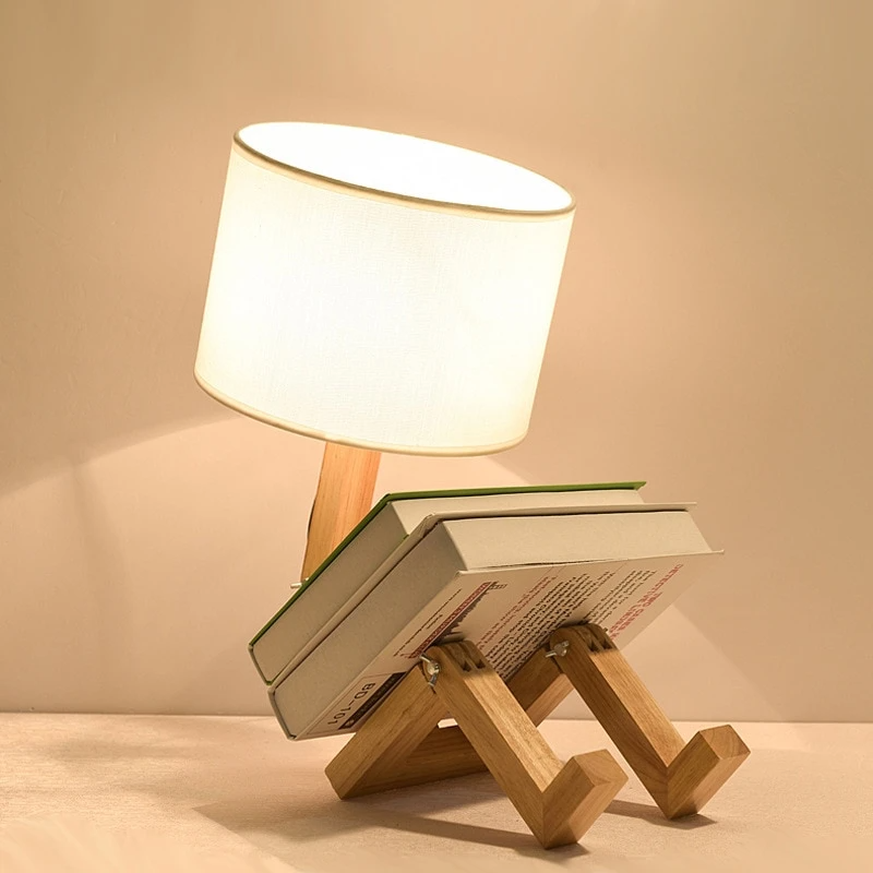 Creative Foldable Table Lamp In 2021 Wooden Desk Lamp Wooden Table Lamps Table Lamps Living Room
