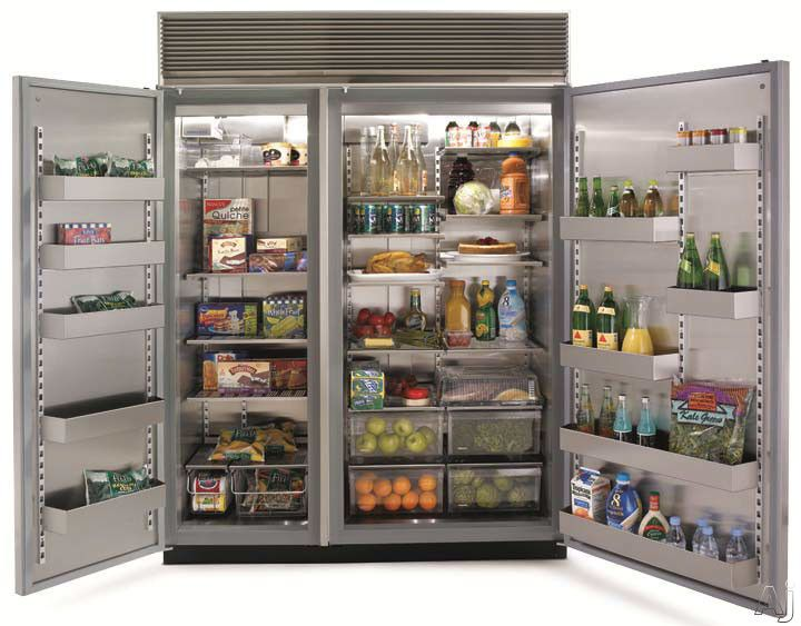 Marvel M60csssp 60 Inch Built In Side By Side Refrigerator With 39 3 Cu Ft Capacity Outdoor Kitchen Appliances Refrigerator Freezer Side By Side Refrigerator