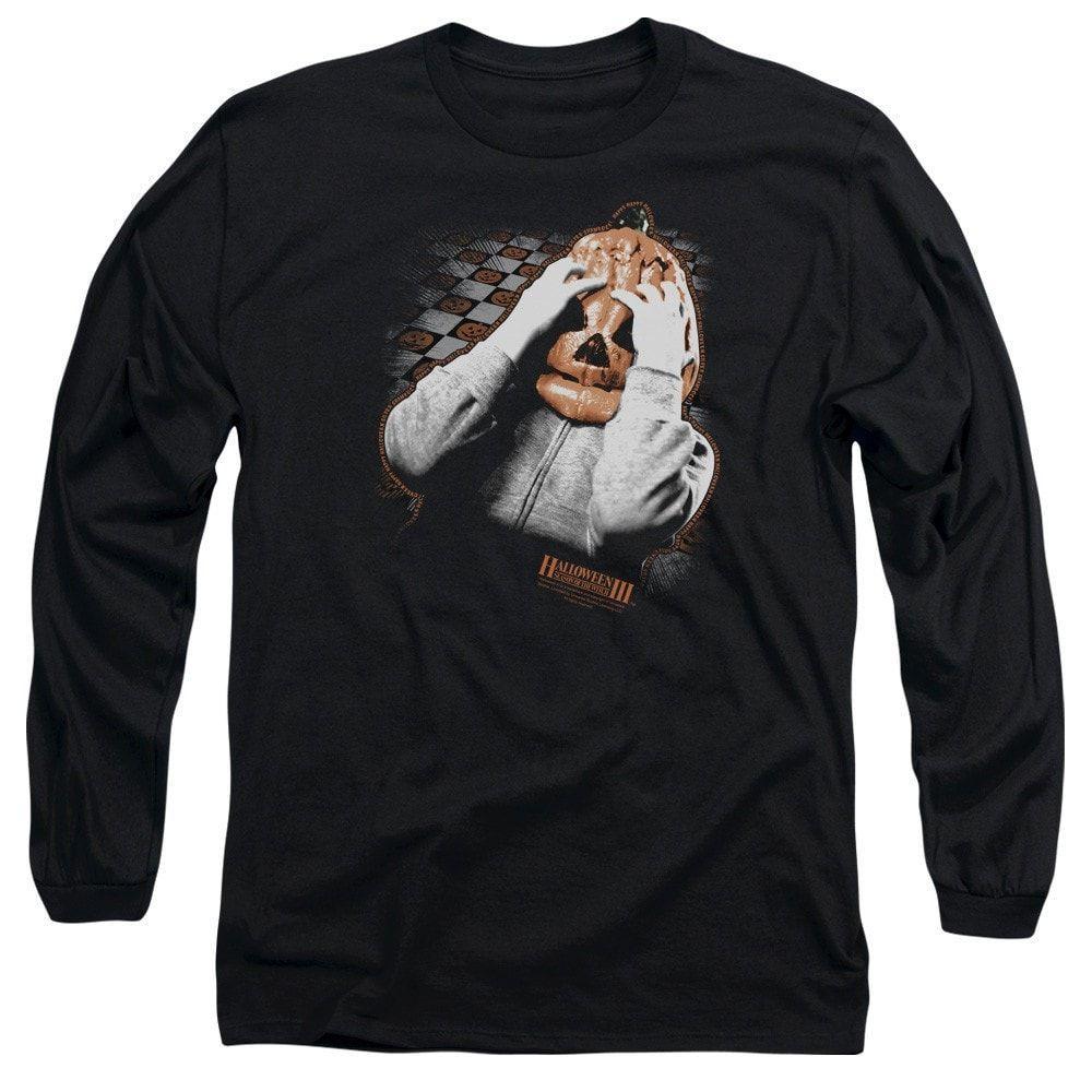 Halloween Iii - Pumpkin Mask Adult Long Sleeve T-Shirt   Shirts ...
