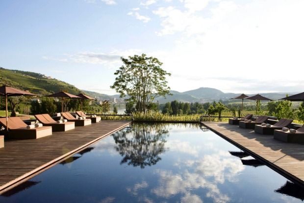 Douro Valley, Portugal Poolside at the Six Senses in Lamego is the latest luxury resort in he sleepy, remote Douro Valley.Photo: Supplied