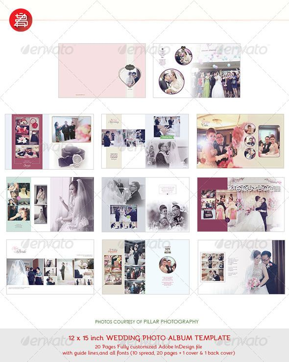20 Pages Photo Album Template 12x15 for InDesign | Template, Print ...