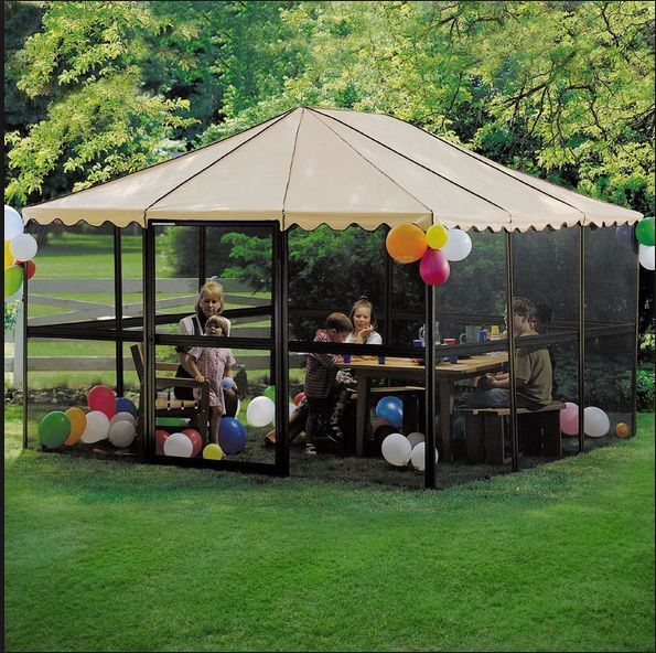 Huge Sun Room Screen Canopy Outdoor Sunroom Tent Pergola Gazebo Patio  Enclosures