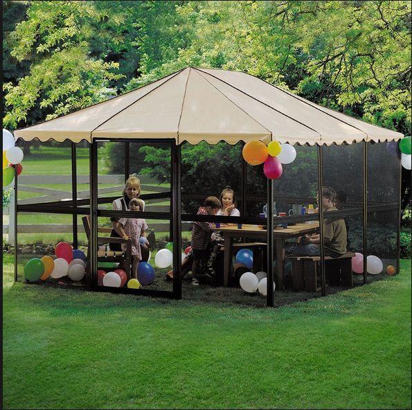 Huge Sun Room Screen Canopy Outdoor Sunroom Tent Pergola Gazebo Patio Enclosures