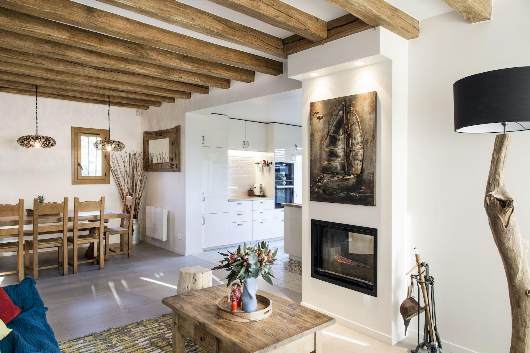 Rénovation d\'une maison à la campagne. Chic et rustique, grace à un ...