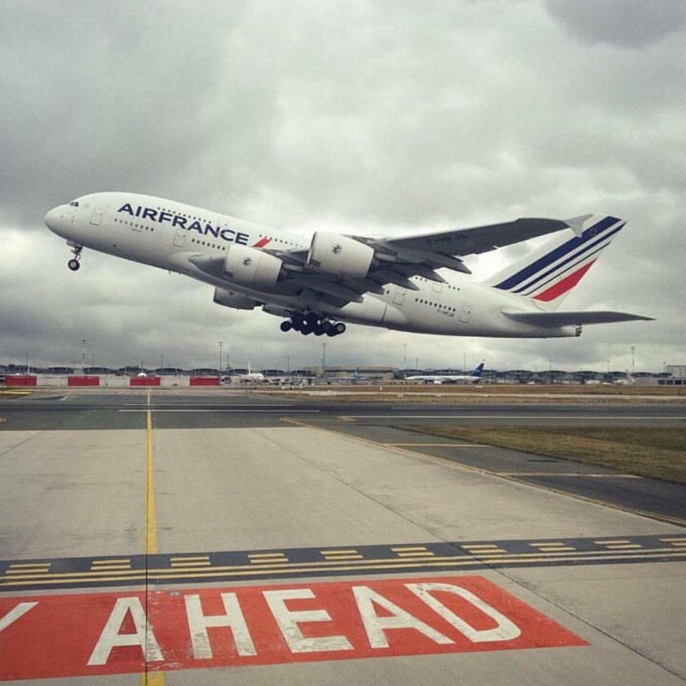 Runway Ahead Air France Airbus A380 Aviation, Air