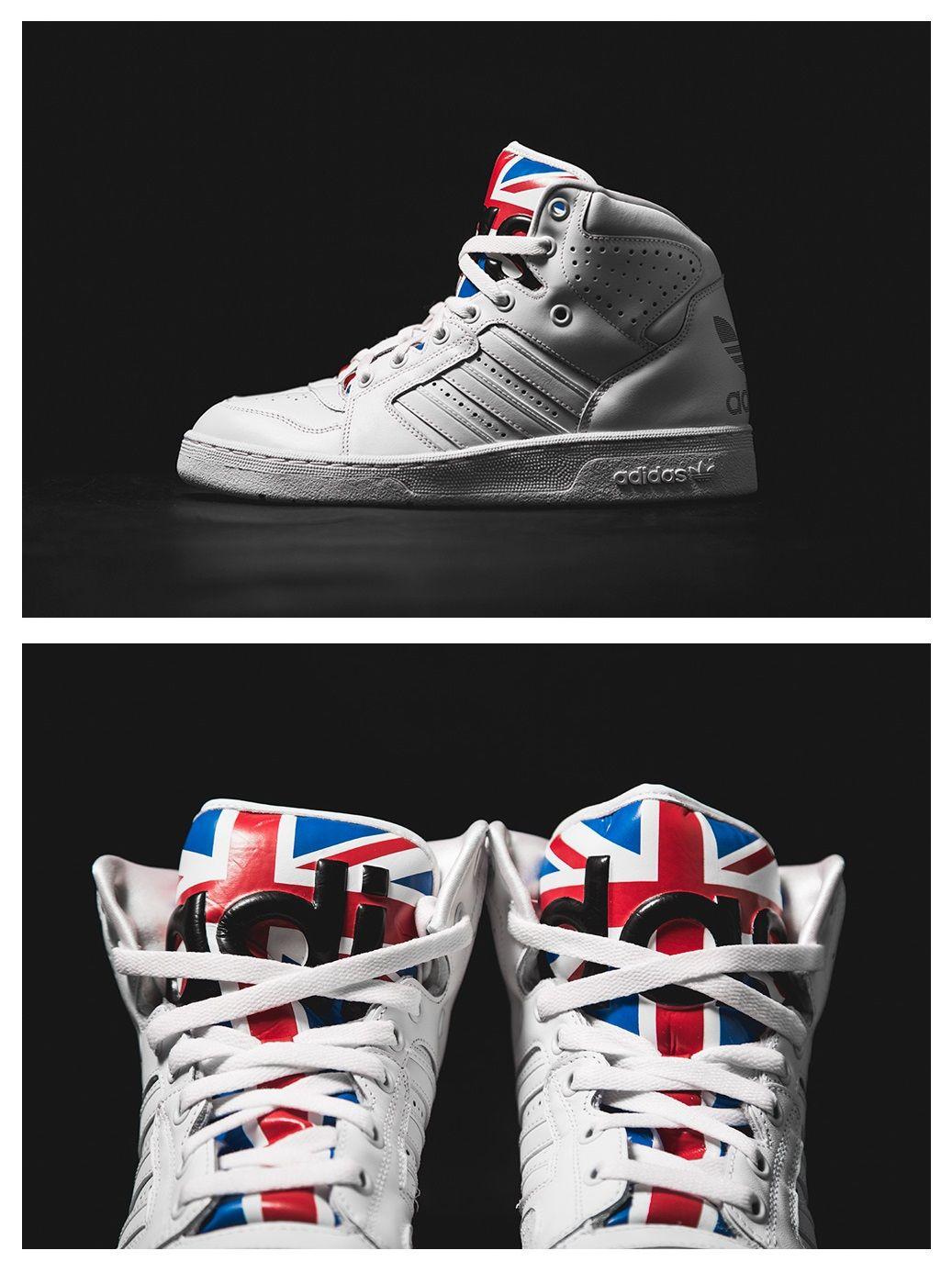 "differently f9616 ff892 adidas x Jeremy Scott Instinct Hi ""Union Jack"""