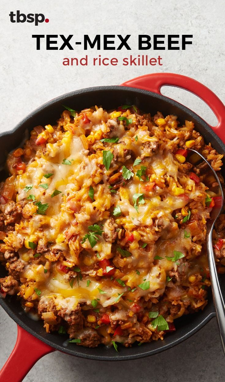 Tex Mex Beef And Rice Skillet Recipe Ground Beef Recipes For Dinner Beef Recipes For Dinner Beef Dinner