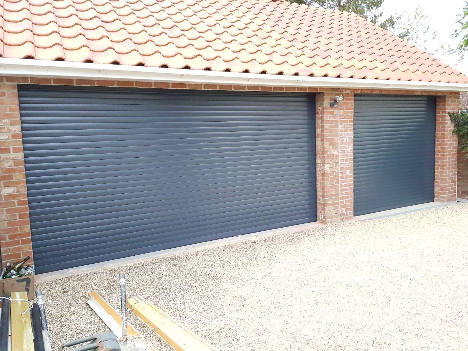 Double And Single Insulated Roller Garage Door In Anthracite Garage Doors Roller Doors Timber Garage
