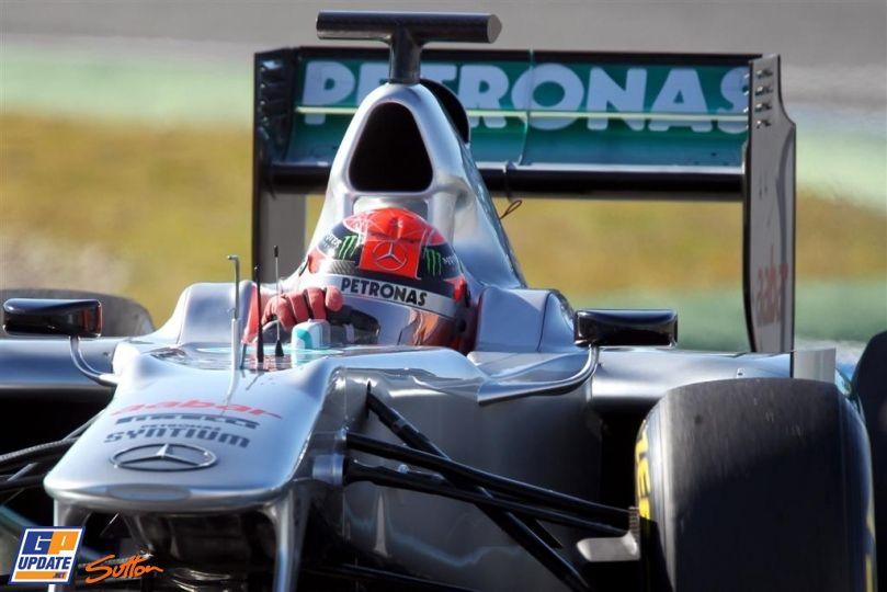 Michael Schumacher, Mercedes Grand Prix, Formula 1 test at Circuito Permanente de Jerez 7 February 2012, Formula 1