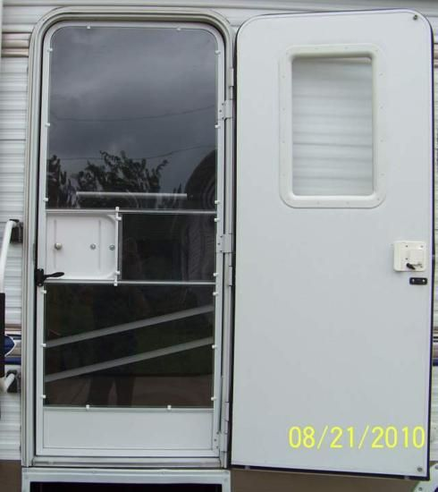 Rv Door Window Glass Mod A Door For All Seasons Rv Life