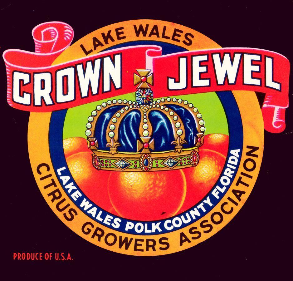 Crown Jewel Citrus Fruits. Lake Wales Citrus Growers Association. Lake Wales, Polk County, Florida