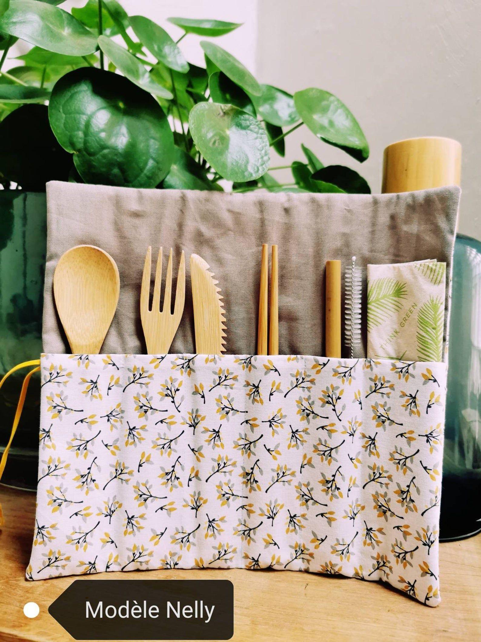 Ensemble couverts bambou Set de couverts bambou réutilisable | Etsy