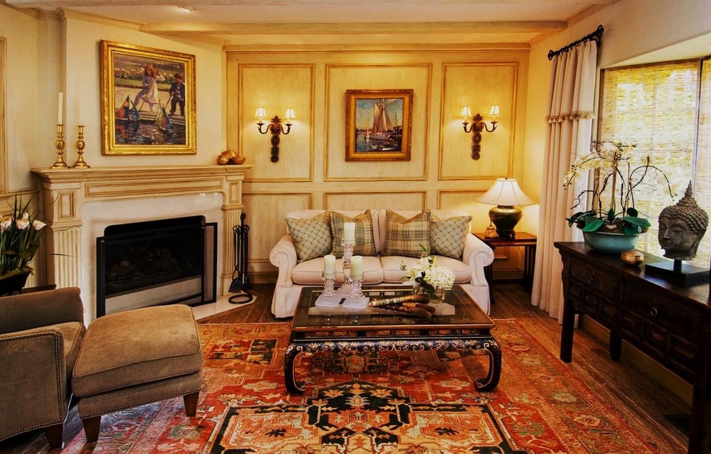 Corner Fireplace   Traditional design living room ...