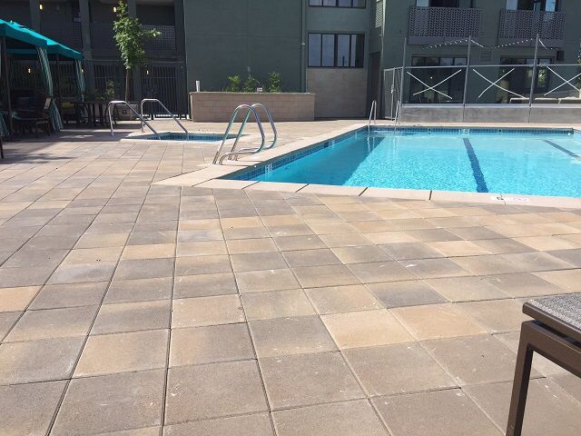 Our 12 X Pavers Look Amazing By The Pool Great Job At Decorative Paving On Installation It Looks Beautiful Ackerstone