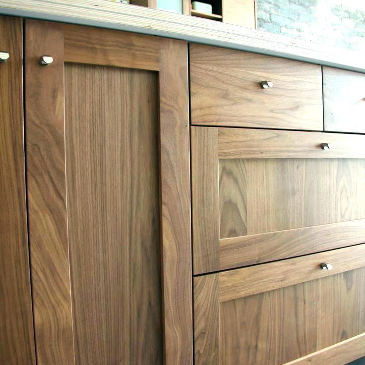 Diy Frameless Cabinet: Natural Walnut Kitchen Cabinets Black Wood Ideas About