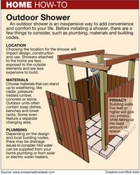 Build an Outdoor Shower by Pat Logan on Creators.com - A Syndicate Of Talent