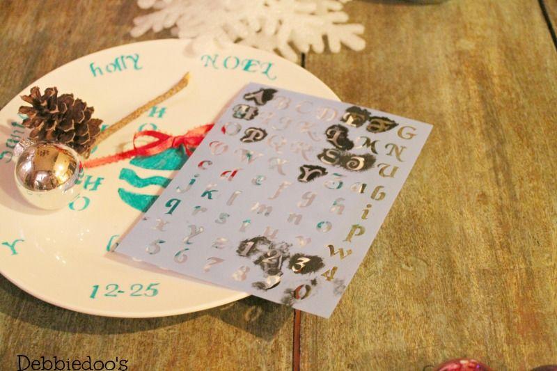 Christmas sharpie plates - Debbiedoos