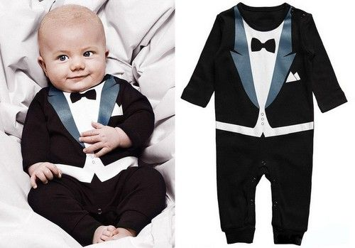 Baby Boy Easter Wedding Formal Party 5 PC Tuxedo Suit Black Size 0-24M 0,1,2