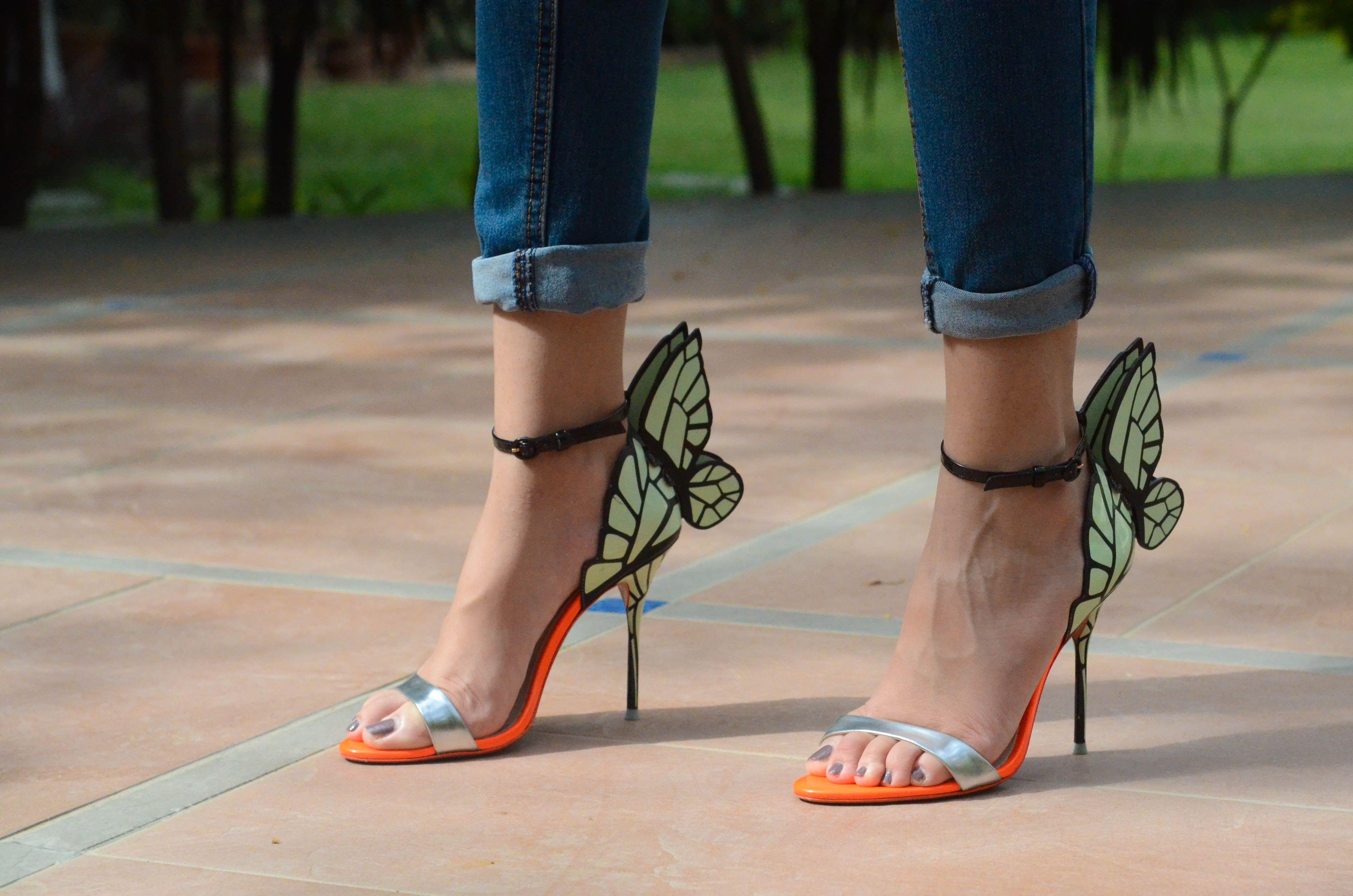 48400ea4669 Sophia Webster 'Chiara Butterfly Wing' Mint Silver Heels! | Shoes We ...