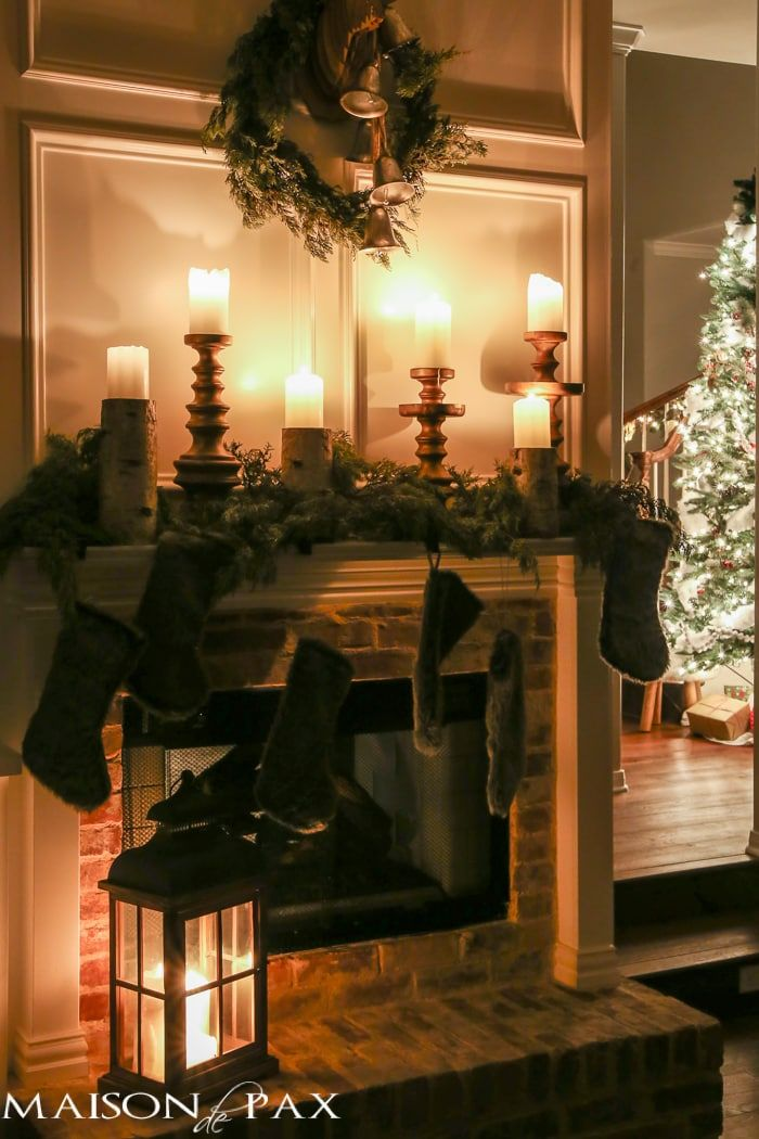 Christmas Nights Tour: Incredible! 35 beautiful homes all decorated for the holidays and lit up by candlelight and Christmas lights... #fireplace #christmashome