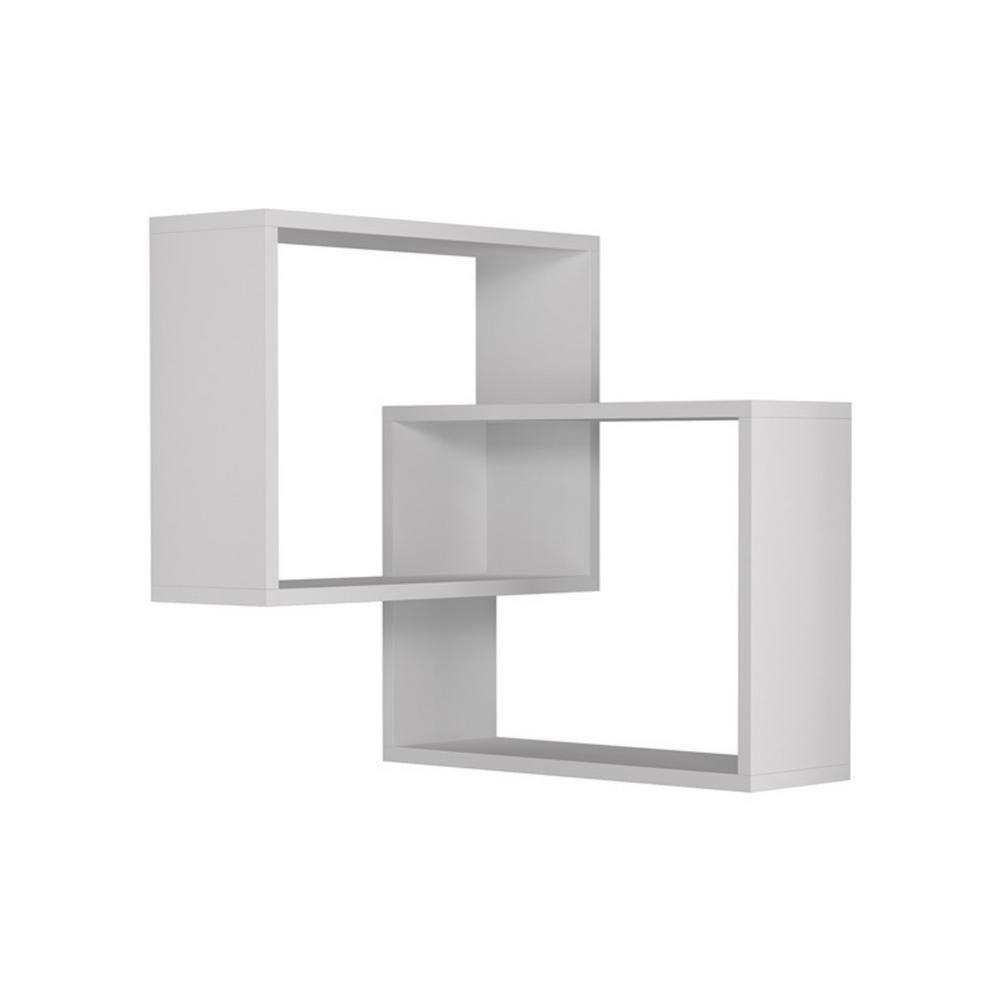 Ada Home Decor Warner White Mid Century Modern Wall Shelf Dcrw2181