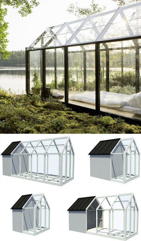 Dreamiest Scandinavian House Design Exterior Ideas 6: Dream In Greenhouse: Small Scandinavian Summer Island