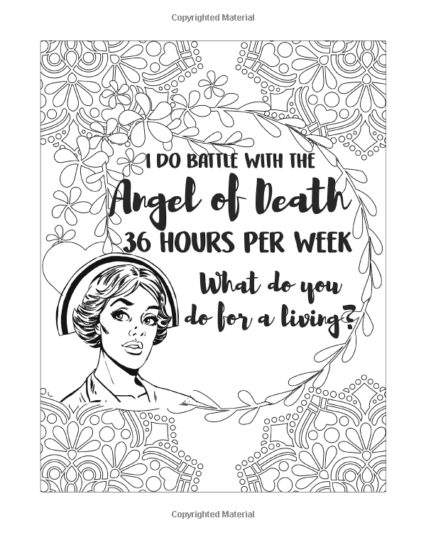 Nurse Coloring Book: A Humorous, Snarky & Unique Adult
