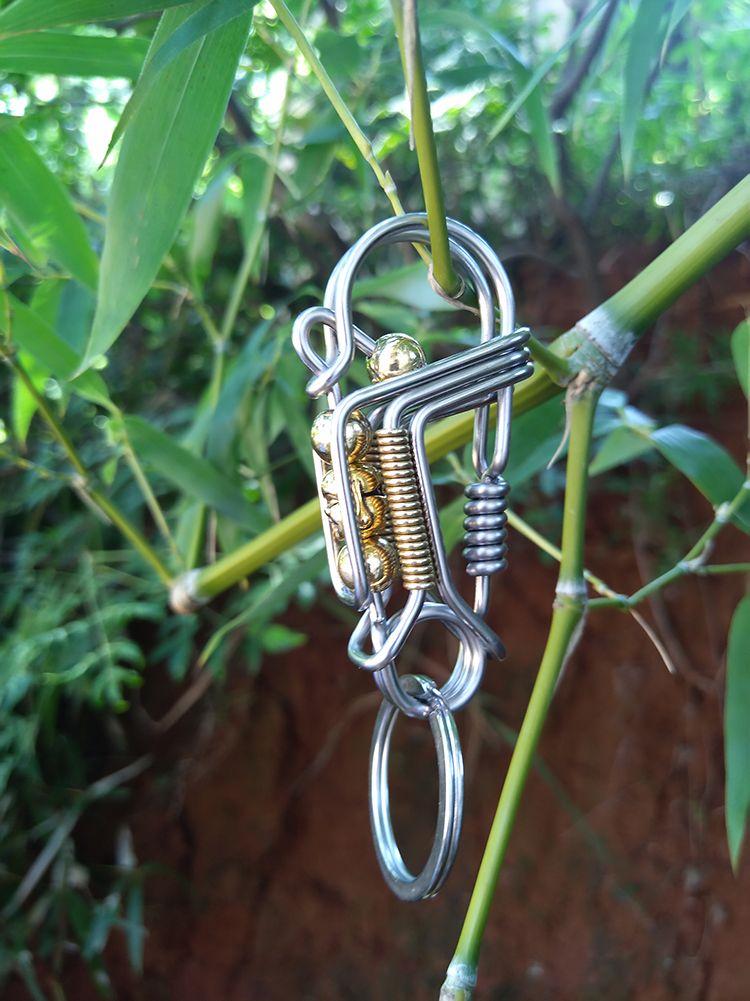Carabiner Karabiner Clips Stianless Steel Snap Hook DIY Tools Spring Loaded 60MM