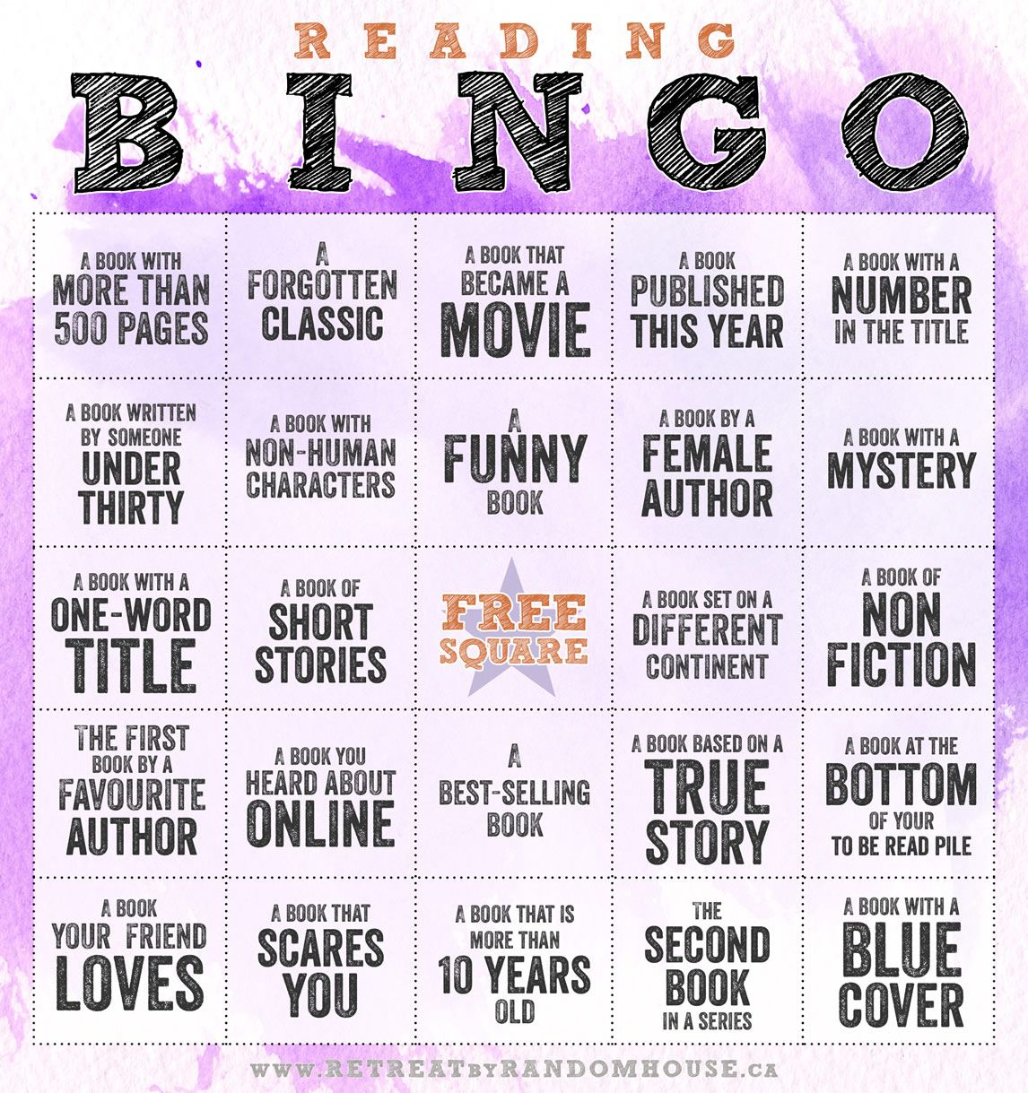 challenge yourself with reading bingo 2014 pictures