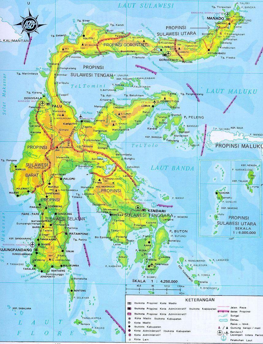 Hasil Gambar Untuk Peta Kabupaten Morowali Pulau Indonesia Pulau Maluku