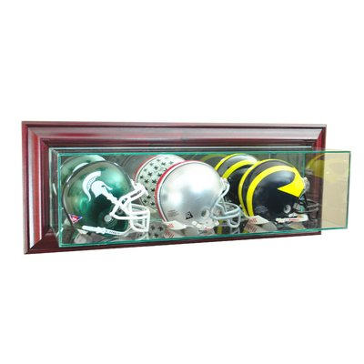 d02a7917 Perfect Cases and Frames Wall Mounted Triple Mini Football Display ...