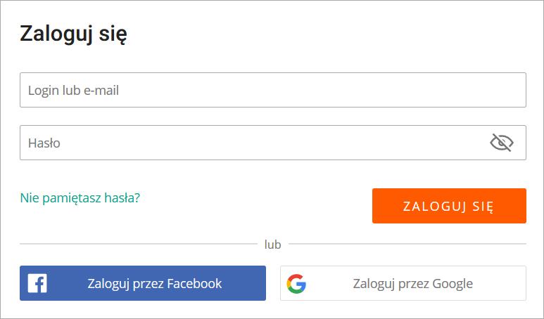 Logowanie Google Facebook Google Facebook Facebook Google
