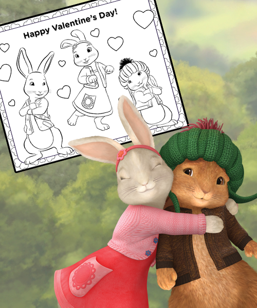 Peter Rabbit Valentine S Day Coloring Page Nick Jr Valentines Day Coloring Page Valentines Day Coloring Rabbit Valentine