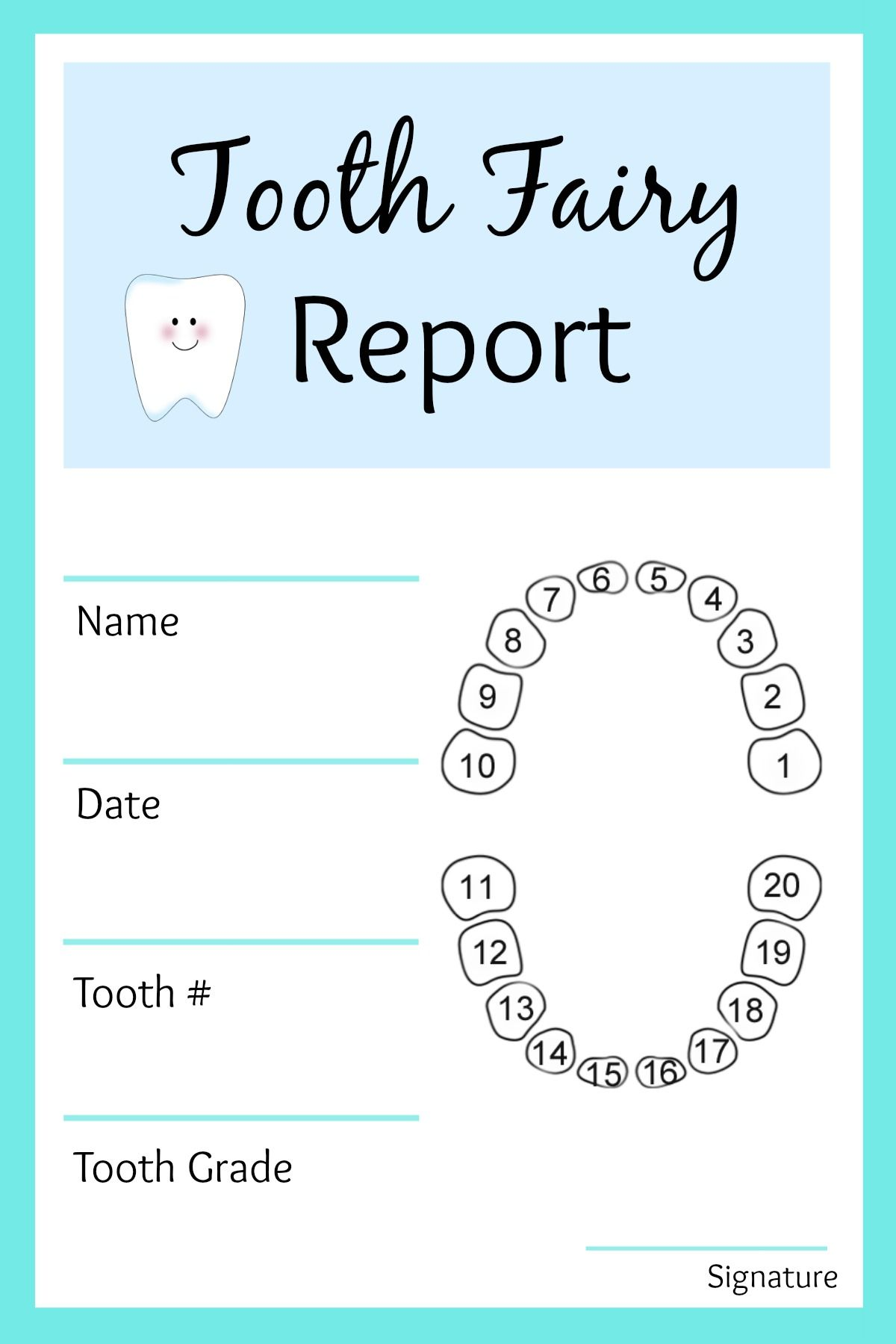 Www Thesuburbanmom Com Wp Content Uploads 2014 06 Tooth Fairy Report Blue Jpg Tooth Fairy Letter Tooth Fairy Certificate Tooth Fairy Letter Template