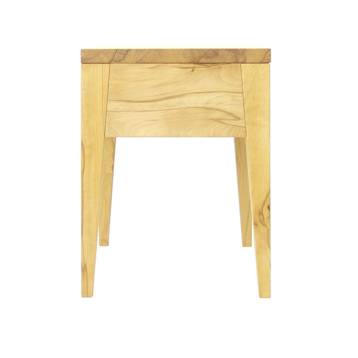 Massivholznachttisch Lilly Seitenansicht Tisch Nachttisch