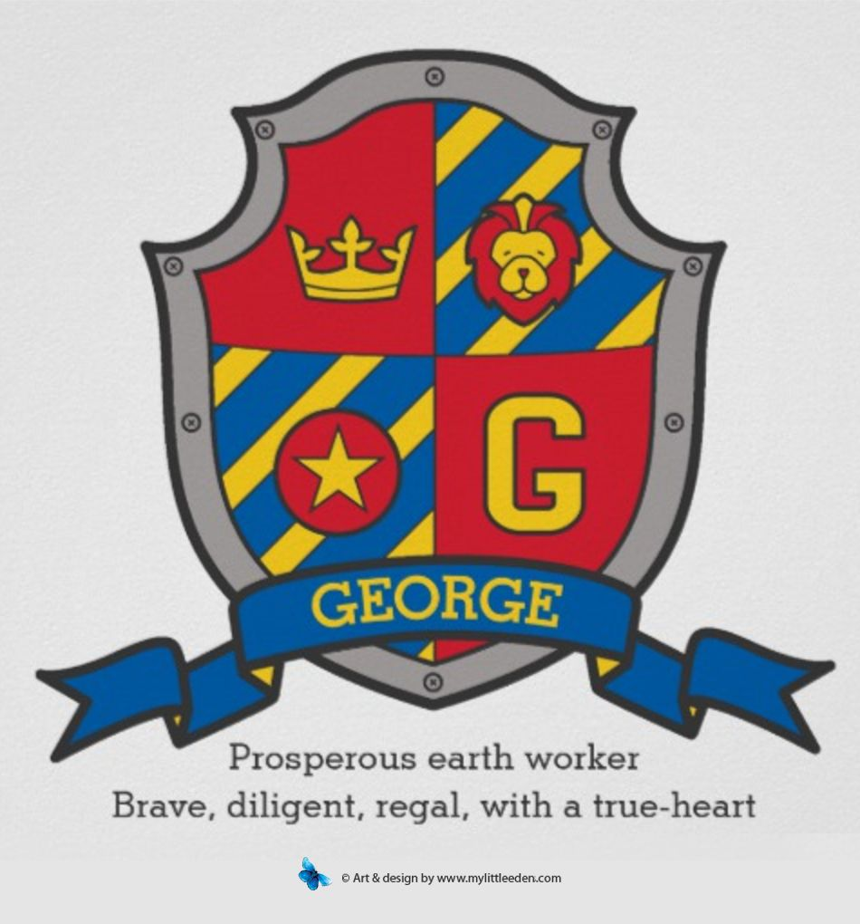 Meaning of george knights shield kids bedroom or nursery poster meaning of george knights shield kids bedroom or nursery poster design meaningofgeorge george buycottarizona Image collections
