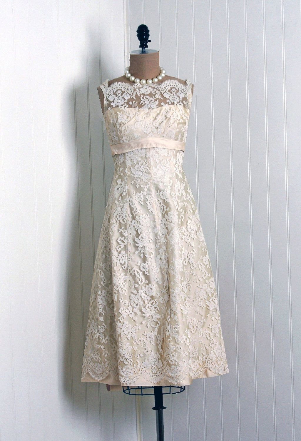 1950s Saks Fifth Avenue label Chantilly lace dress. #1950s (was mine ...