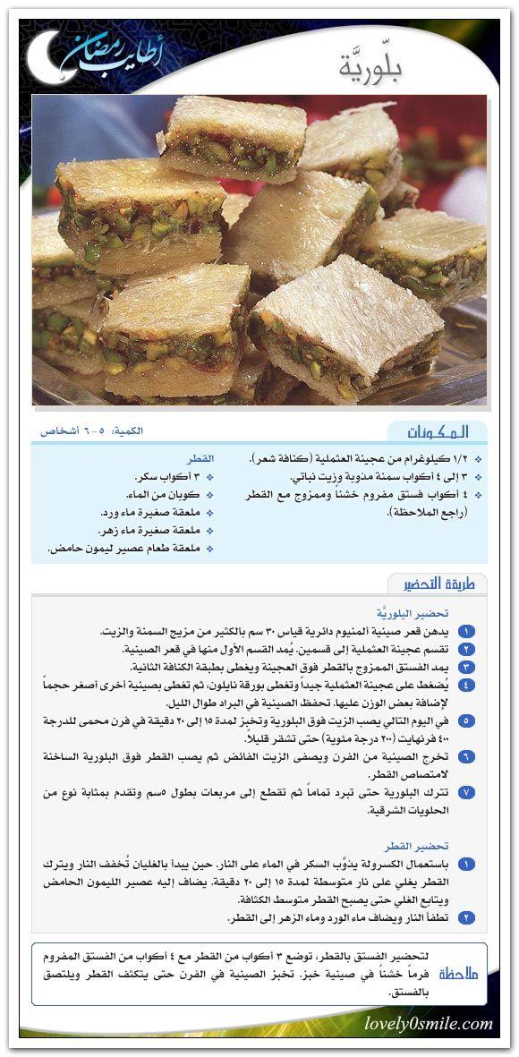 مفاجاة على ابواب رمضان كتاب وعلى رزقك أفطرت منتدى فتكات Arabic Food Lebanese Desserts Syrian Food