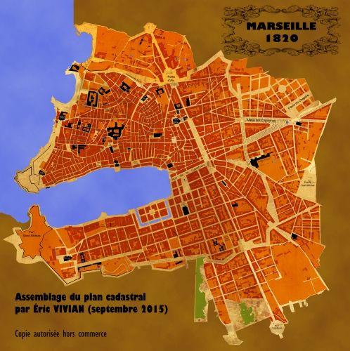 Cartes Plans Marseille 1820 Cadastre 13 Eric Vivian Marseille
