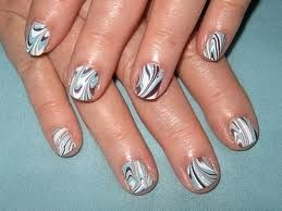 Water marble nails (: