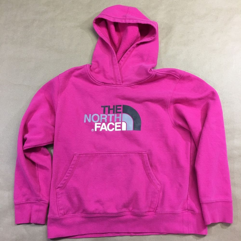 The North Face Girls XL hoodie Pullover Sweatshirt Pink with