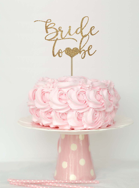 Bride to be cake topper, bridal shower cake topper… | Pink/Blush ...