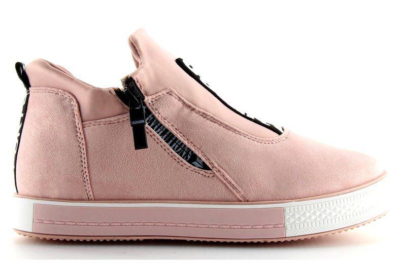 Trampki Na Koturnie Rozowe Nb168 Pink Shoes Sneakers Wedge Sneaker
